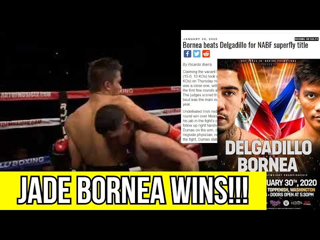 FILIPINO JADE BORNEA TOOK A DECISION WIN OVER DELGADILLO