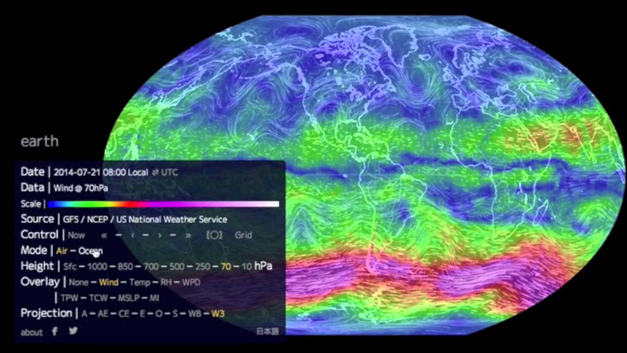how to use the earth wind map youtube