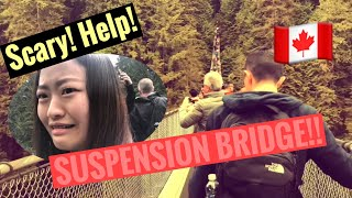 FIRST TIME IN VANCOUVER (SCARY SUSPENSION BRIDGE 🇨🇦)