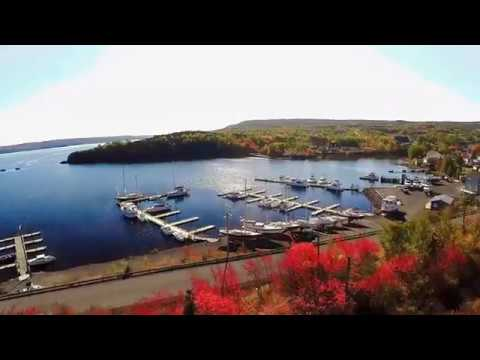 Clarenville & Shoal Harbour Newfoundland aerial view fall 2016