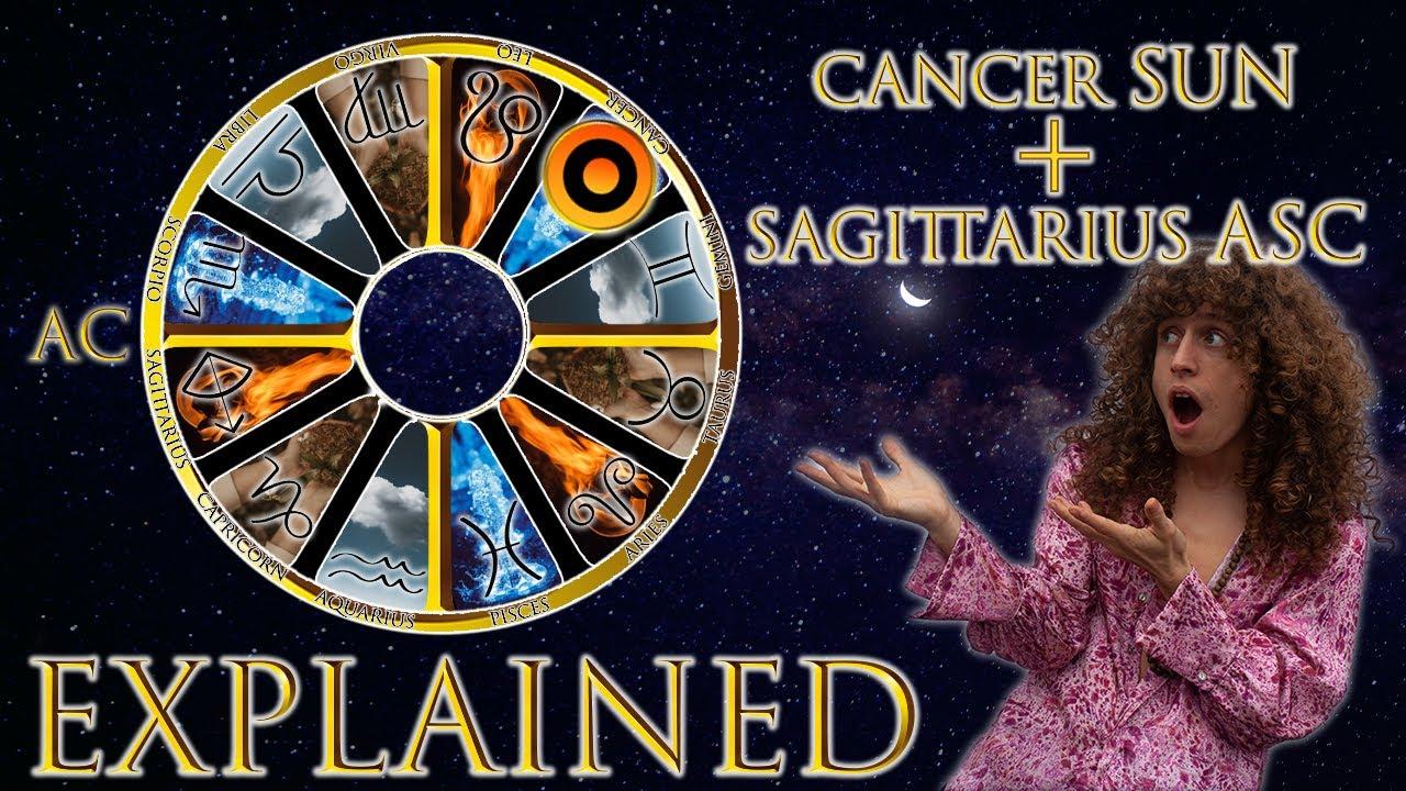 ☉ Sun in Cancer + Sagittarius Asc (rising sign)