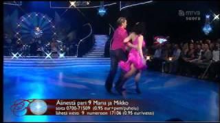 Maria Lund ja Mikko Ahti dancing Jive