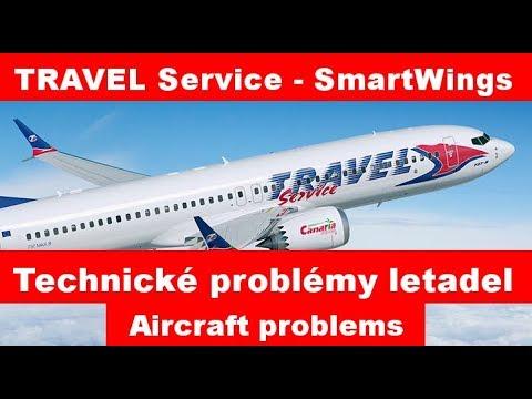 Problémy Poruchy Letadel TRAVEL SERVICE - SmartWings Aircraft Problems Hurghada, Antalya, Madrid