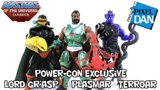 Masters of the Universe Classics Terroar Plasmar & Lord Gr'asp Power-Con Figures Video Review