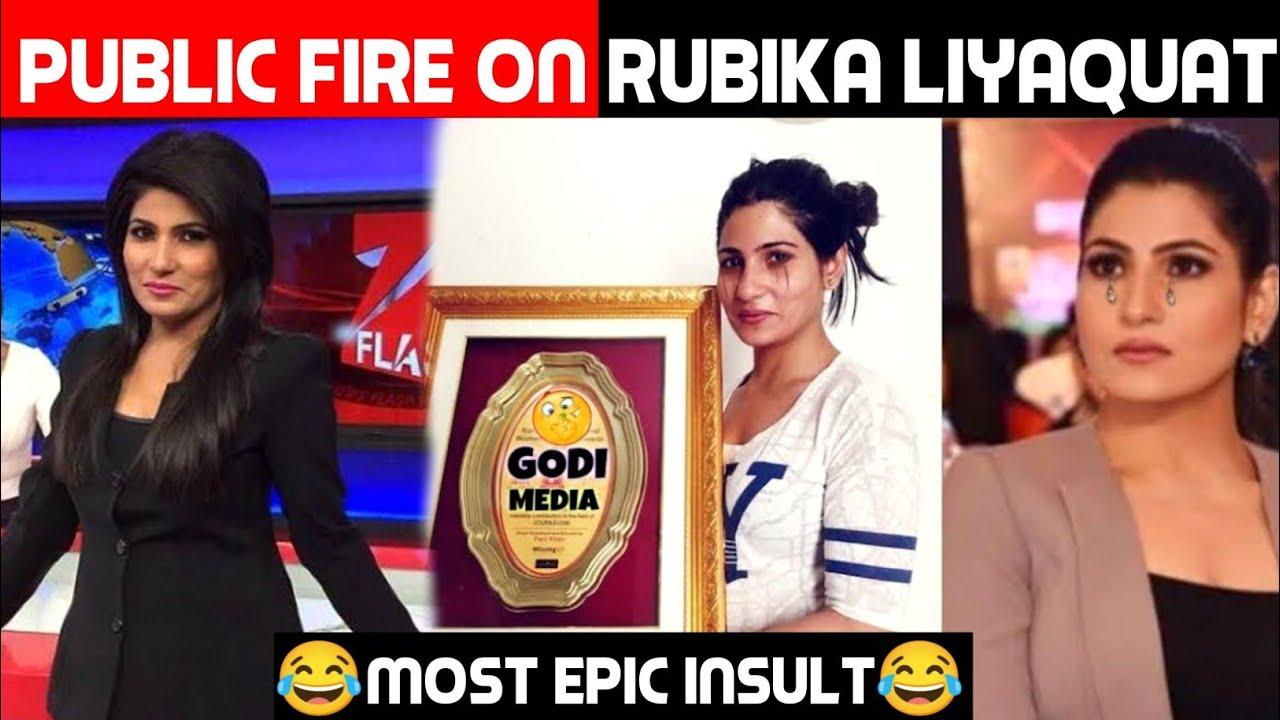 Public Fire On Rubika Liyaquat   Rubika Liyaquat Insulted   Godi Media   Public Demand