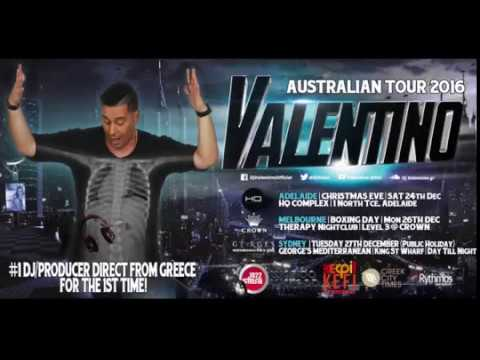 Greece's number 1 DJ Valentino live in Sydney Adelaide and Melbourne