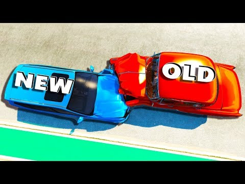 NEW VS OLD CAR CRASH TESTING! - BeamNG Drive