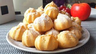 Пирожные Профитроли получатся у каждого // Profiteroles Recipe