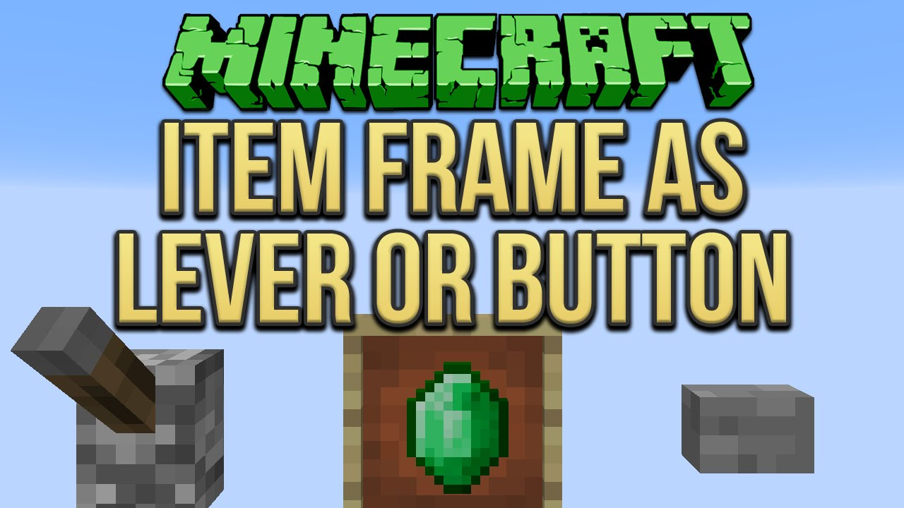 Minecraft: Item Frame As Lever Or Button Tutorial - YouTube
