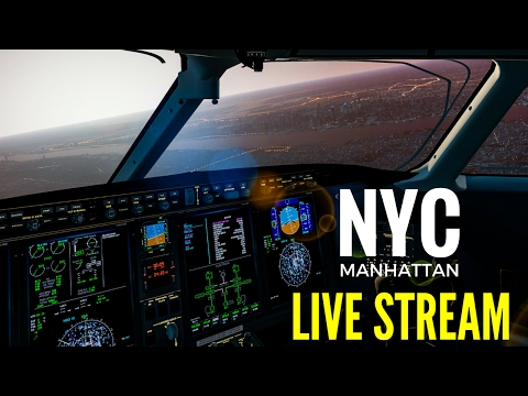 X-Plane 11 - NYC in the Challenger 300 (LIVE STREAM)