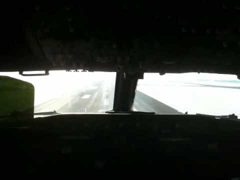 WestJet landing from the jumpseat