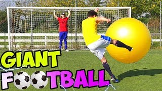 GIANT FOOTBALL CHALLENGE! w/ IlluminatiCrew