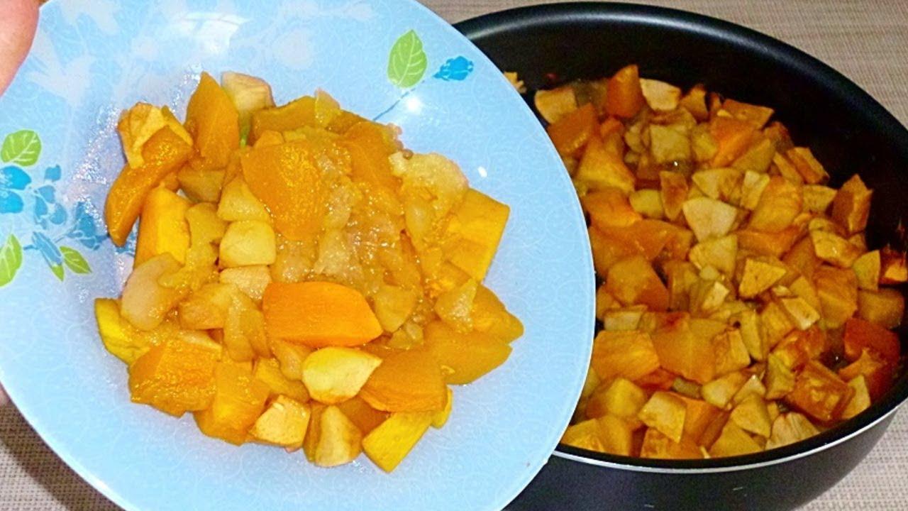 как запечь яблоки с тыквой в духовке