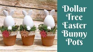 Dollar Tree Easter Crafts: Dollar Tree Easter Bunny Pots