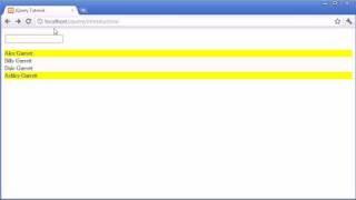 jQuery Tutorial - 24 - Contains selector