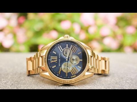d47cd930e7fa Michael Kors Access Touch Screen Rose Gold Acetate Bradshaw Smartwatch  MKT5013