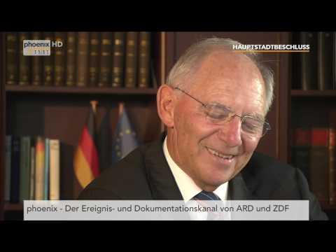 25 Jahre Hauptstadtbeschluss (2/5): Interview mit Wolfgang Schäuble vom 21.06.2016
