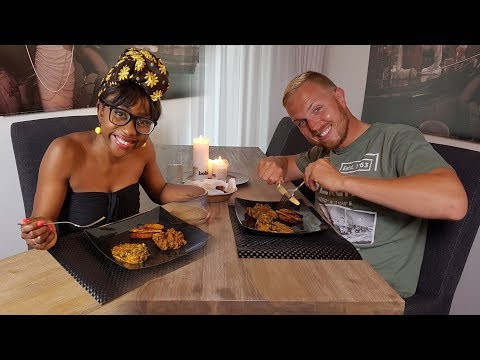 JACK TRYING NIGERIAN FOOD | BEANS & DODO | YAM PORRIDGE