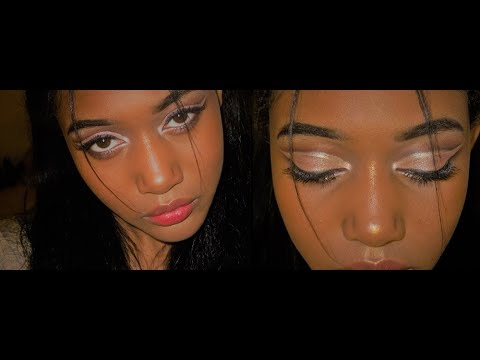 GRWM + Pink Silver lined Cut Crease!