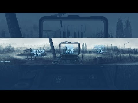 Free Youtube Banner Template PSD - FPS banner - YouTube