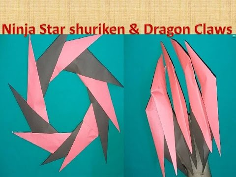 How to Make DRAGON CLAWS & PAPER NINJA STAR SHURIKEN - ORIGAMI Easy Tutorial