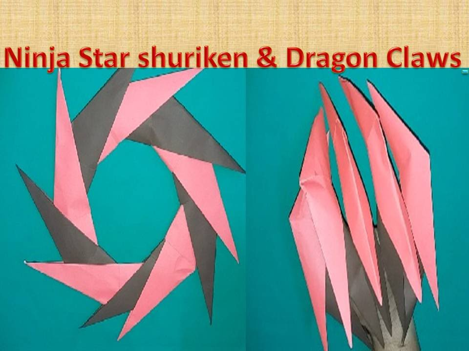How To Make DRAGON CLAWS PAPER NINJA STAR SHURIKEN