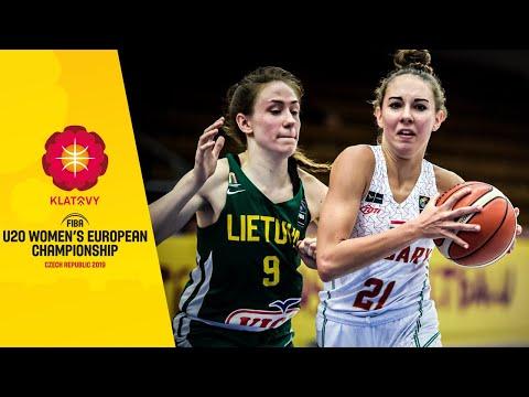 Hungary V Lithuania - Full Game - FIBA U20 Women's European Championship 2019