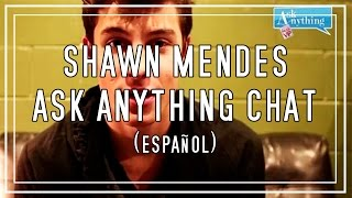 ¡shawn mendes responde preguntas askanythingchat español