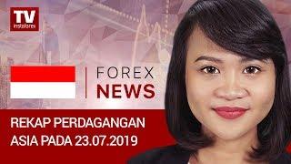 InstaForex tv news: 23.07.2019: USD menguat di tengah pergolakan di zona euro (USDХ, JPY, AUD)