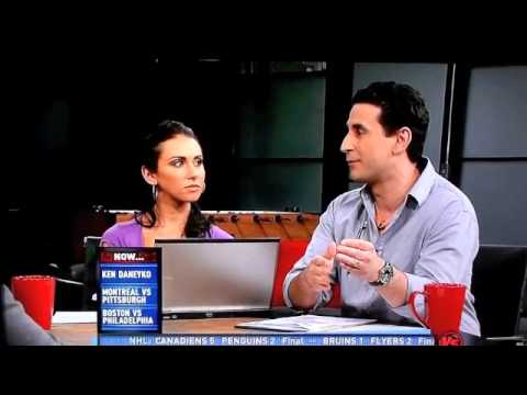 Jenn Sterger blinking like a fool on The Daily Line