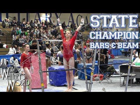 Whitney Bjerken   State Meet Level 10 Gymnastics