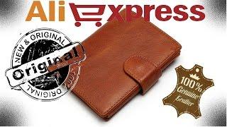 Aliexpress. Купив шкіряний гаманець а там $ . Розпакування, огляд.