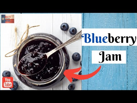 how-to-can-easy-blueberry-jam water-bath-🍴😮