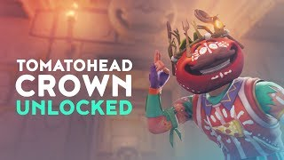 ONE OF THE FIRST TO UNLOCK TOMATOHEAD CROWN! (Fortnite Battle Royale)