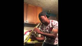 "Corey Staggers Soprano Sax version to ""Again"" by Fetty Wap"