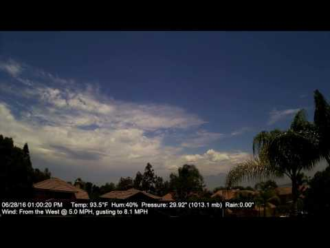 Chino Hills Time-Lapse 6/28/16