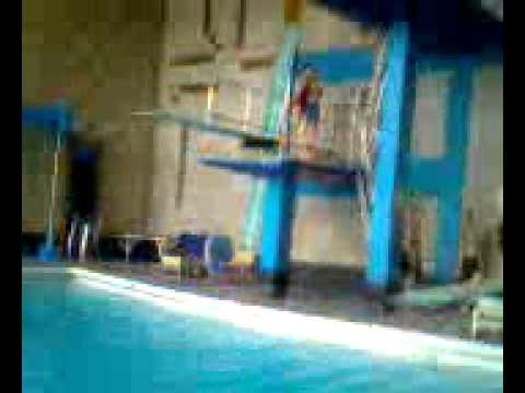 The loopy lads at maidstone pool youtube for Swimming pool diving board tricks