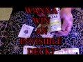 MAKING an INVISIBLE DECK & GIVING it AWAY to a LUCKY SUBSCRIBER!!!