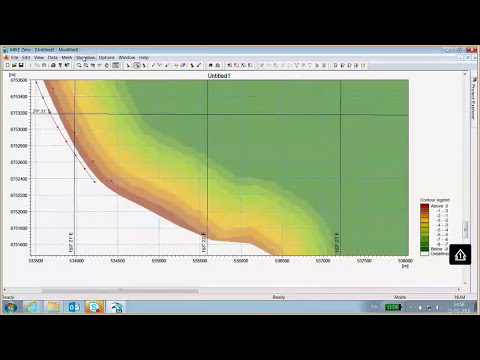 MIKE 21Shoreline Morphology Headland Beach Video tutorial