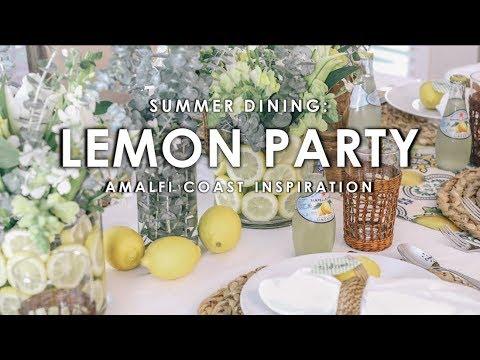 Lemon-Themed Summer Dinner Party