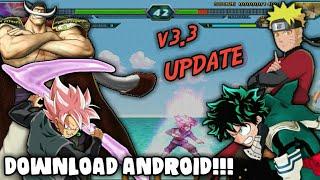 NEW UPDATE!! DOWNLOAD NARUTO VS BLEACH M.U.G.E.N V3.3 EM APK PARA ANDROID!! (+GAMEPLAY)