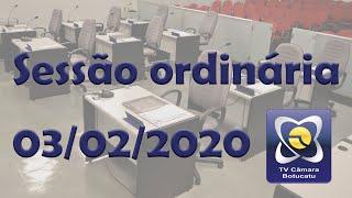 Sessão Ordinária - 03/02/2020