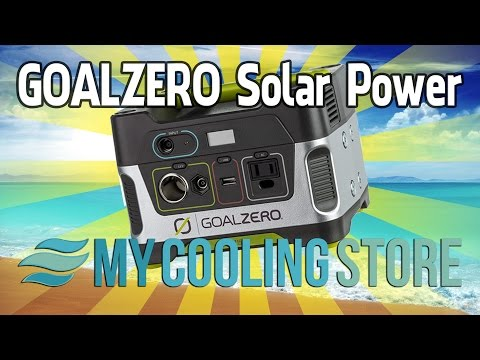 GoalZero Solar Powered Generator Kits – MyCoolingStore