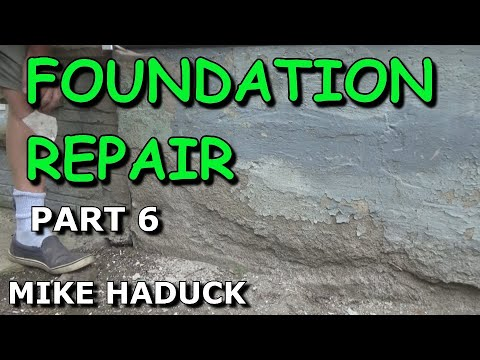 How I patch or fix up a foundation (part 6 of 7) Mike Haduck