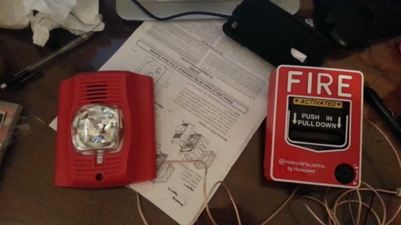 How to wire a fire alarm to pull station  YouTube