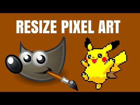 How To Resize Pixel Art No Quality Loss In GIMP