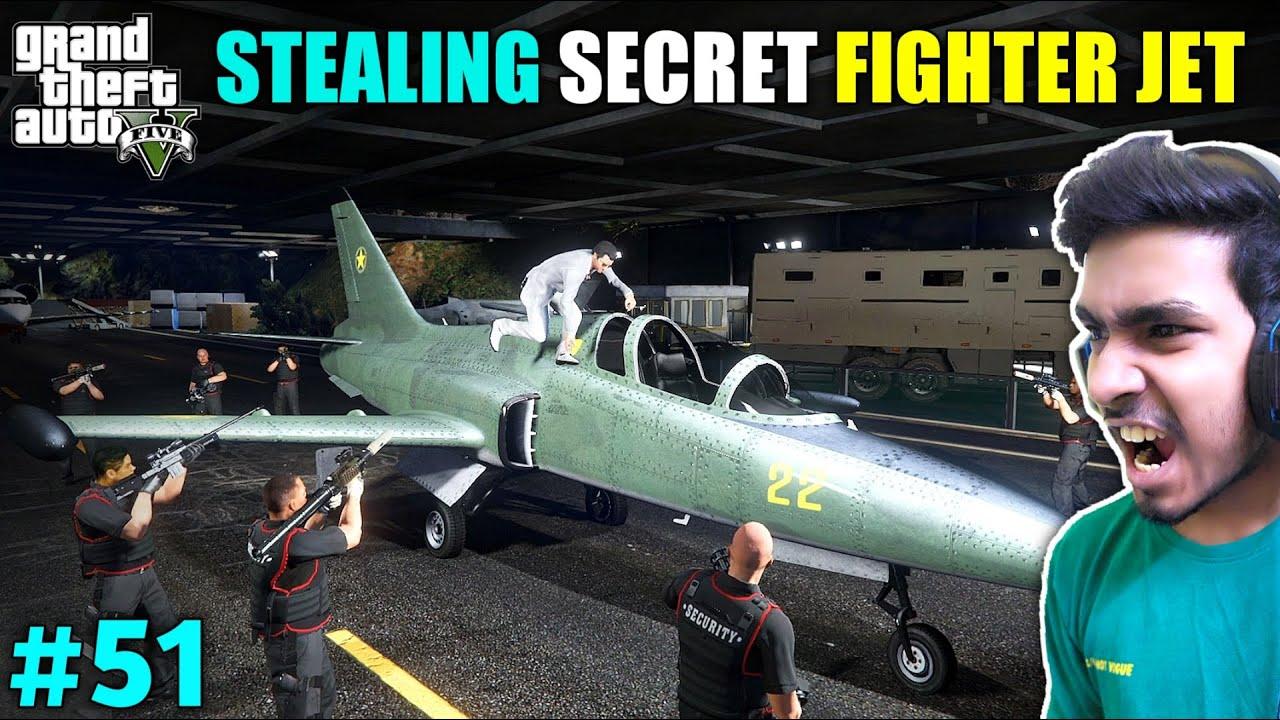 Download STEALING FIGHTER JET GONE WRONG | GTA V GAMEPLAY #51