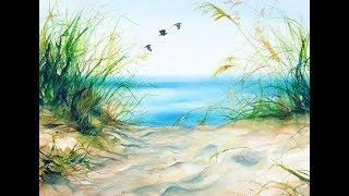 Watercolors Beach Grass Painting Tutorial