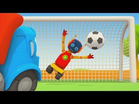 Çizgi Film. Leo Robotlarla Futbol Oynuyor. Çocuklar Için Video