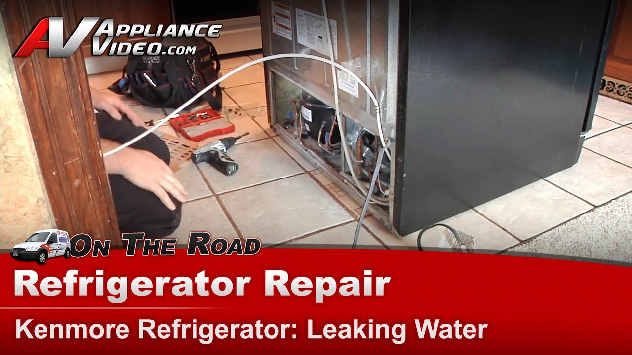Sears Kenmore Whirlpool Maytag Refrigerator Repair Diagnostic Leaking Water On Floor